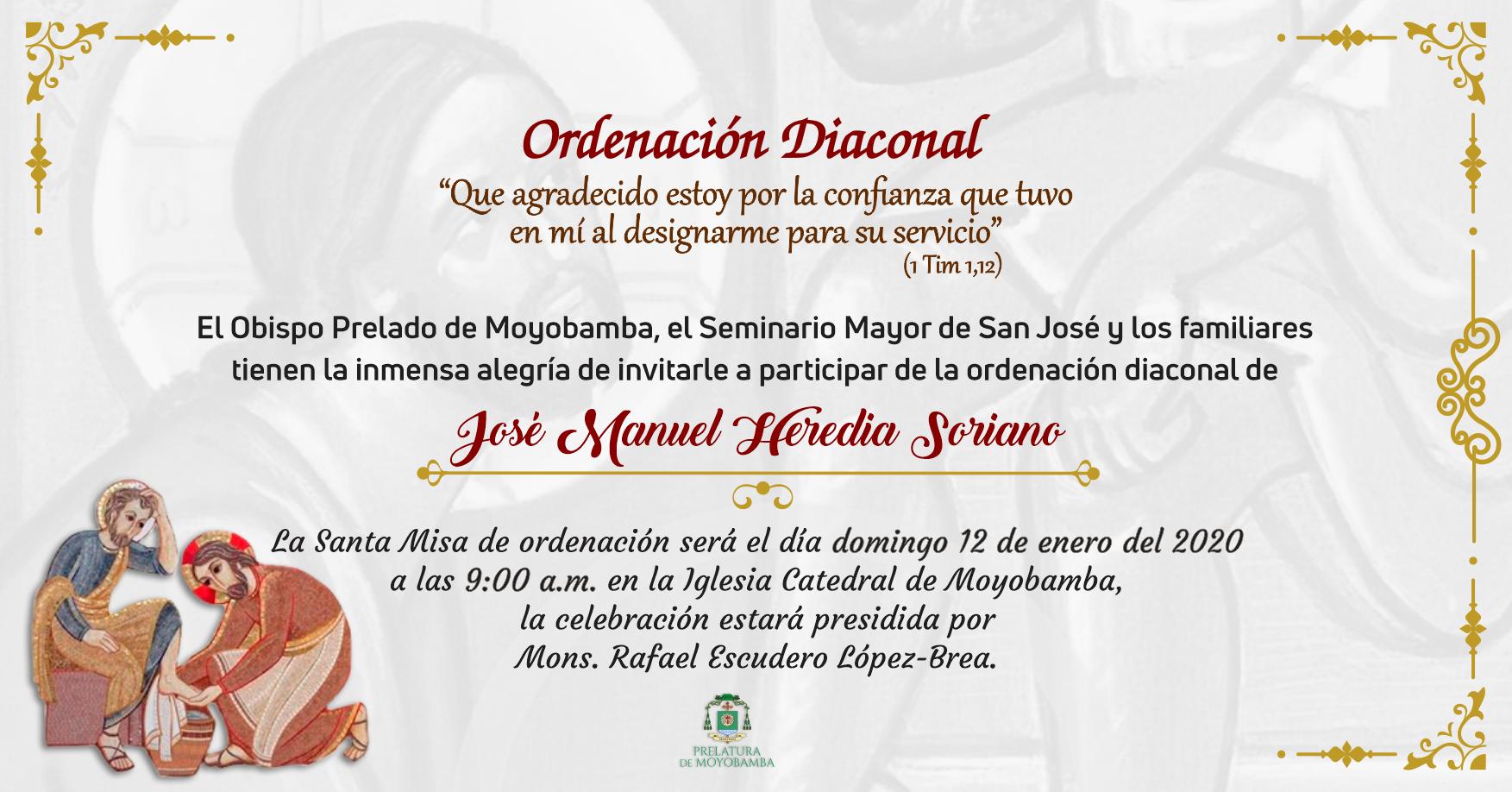 Ordenación Diaconal José Manuel Heredia